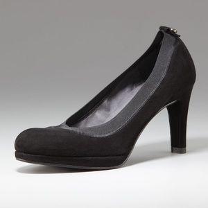 Stuart Weitzman Elastic Trim Suede Shoes Size 6.5